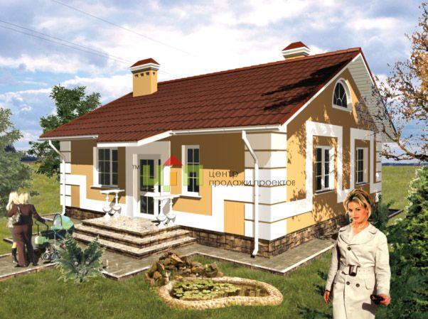 Проект одноэтажного дома 4